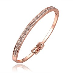Bangles Cuff Bracelet Zircon Rose Gold Plated Simulated Diamond Alloy Friendship Fashion Vintage Bohemian Punk Hip-Hop Irregular Gold