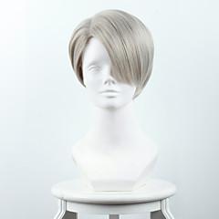 billiga Peruker och hårförlängning-Syntetiska peruker Rak Syntetiskt hår Grå Peruk Dam Korta Cosplay Peruk / Halloween Paryk / Karneval peruk Utan lock