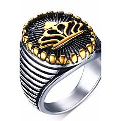 Heren Statementringen Ring Kostuum juwelen Roestvast staal Sieraden Voor Feest Dagelijks Causaal