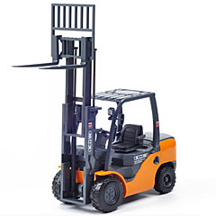 cheap Diecasts & Toy Vehicles-KDW Construction Vehicle Forklift Toy Truck Construction Vehicle Toy Car Retractable Plastic ABS Metal 1pcs Boys' Kid's Toy Gift