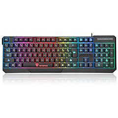 teclado escritório USB backlight multi cor Motospeed