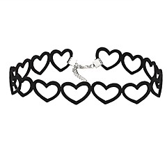 Choker Necklaces Jewelry Heart Lace Alloy Vintage Euramerican Jewelry For Party Birthday Daily Casual