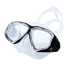 billiga Dykmasker, snorklar och simfötter-Snorkelmask / Simglasögon Anti-Dimma, 180°, Justerbar Två Fönster - Simmning, Dykning Silikon, Härdat glas - för Vuxen Gul / Blå / Rosa