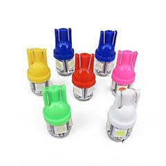 1000x t10 2.5W LED-pære 500pcs hvit ledet 100stk grønn ledet 100stk røde ledet 100stk gul ledet 100stk blå ledet 100stk pink ledet