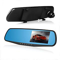 espelho retrovisor do carro DVR carro câmera camcorder carro 1080p dupla vídeo lente Registrator G-sensor hd traço cam de 4.3 polegadas