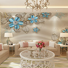 billige Tapet-Art Deco 3D Hjem Dekor Moderne Tapetsering, Lerret Materiale selvklebende nødvendig Veggmaleri, Tapet