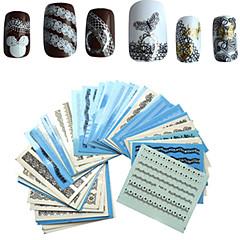 baratos -1 set 50pcs Adesivos para Manicure Artística Decalques de transferência de água maquiagem Cosméticos Designs para Manicure