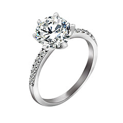 cheap Rings-Women's Zircon Ring - Stylish Silver Ring For Wedding / Party / Special Occasion