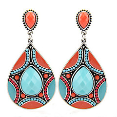 cheap Earrings-Drop Earrings Crystal Crystal Alloy Jewelry Green Robin's Egg Blue Party Daily Casual Costume Jewelry