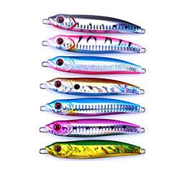 billiga Fiskbeten och flugor-7 pcs Metallbete / Pimplar / Skedar Pimplar / Metallbete / Gädda Bly / Metall Sjöfiske / Kastfiske / Spinnfiske / Jiggfiske / Abborr-fiske / Drag-fiske / Generellt fiske / Trolling & Båt Fiske