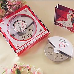 abordables -une tranche de coupeur de pizza en acier inoxydable d'amour dans la boîte à pizza miniature beter gifts® style de vie