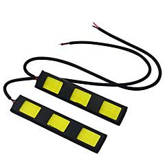 billige Tåkelys til bil-JIAWEN 2pcs Bil Elpærer 3.5W W COB lm LED utvendig Lights Baklys Dagkjøringslys Tåkelys
