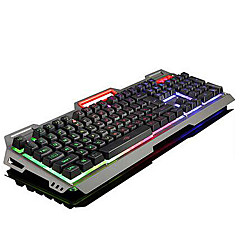 USB ゲーミングキーボード エルゴノミックキーボード マルチメディアキーボード USB マルチカラーバックライト #