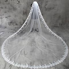 Voal de Nuntă Un nivel Voaluri de Catedrală Margine cu Aplicație de Dantelă Tul