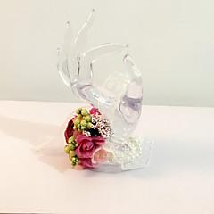 """Flori de Nuntă Rotund Legat Manual Trandafiri Corsaj de mână Nuntă Petrecere / Seară Flori Uscate 6.69""""(Approx.17cm)"""