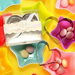 10箱/ロット - 心臓クッキーカッターセット(2個/箱)ベターギフト®結婚式のインスピレーション7.5 x 6.5 x 2 cm /箱