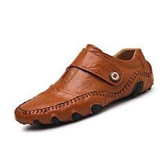 economico Shoes Trends-Per uomo Nappa Primavera / Estate / Autunno Casual / Comoda Mocassini e Slip-Ons Footing Nero / Marrone