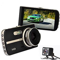 Visão noturna carro dvr novatek 96655 full hd carro gravador de vídeo 4,0 polegadas 1080p vídeo registrador g-sensor carro câmeras lente