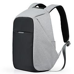 multifunksjonelle laptop backpack17 tommers forretningsryggsekker uformell reise polyester poser vanntett