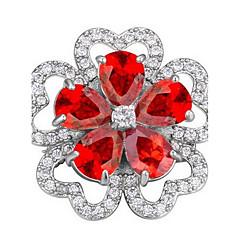 billige Motebrosjer-Dame Nåler Smykker Unikt design Blomster Blomstret Personalisert Euro-Amerikansk Zirkonium Legering Blomsterformet Smykker Smykker Til