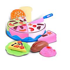 billiga Leksakskök och -mat-Leksaksmat Låtsaslek Leksaker Mat Tårt- och kakskärare Efterrätt Tårta levande Barnsäkert Plast ABS Unisex Barn Present