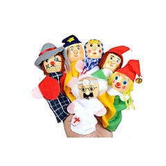 Hrajeme si na... Vzdělávací hračka Prstová loutka Hračky Hračky Dívčí 6 Pieces