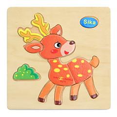 Sada na domácí tvoření Vzdělávací hračka Puzzle Dřevěné puzzle Hračky Zvířata Děti Dětské 1 Pieces