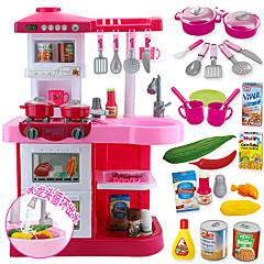 Hrajeme si na... Toy kuchyňských sestav Hračka nádobí a čajové soupravy Toy Foods Hračky Kulatý Chlapecké Dívčí Chlapci Pieces