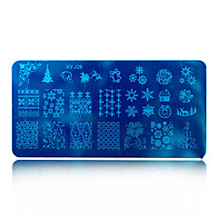 1pcs Hot Sale Beautiful Snowflake Lovely Design DIY Fashion Stamping Plate Nail Stainless Steel Stamping Plate Polish Manicure Beauty Stencils XY-J28