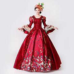 Prinzessin Göttin Kleid Cosplay Kostüme Maskerade Ballkleid Damen Rokoko Mittelalterlich Renaissance Party Abiball Weihnachten Halloween Karneval Fest / Feiertage Spitze Organza Rot Karneval Kostüme