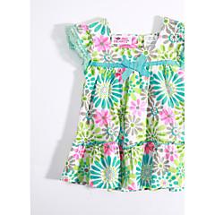 billige Babyoverdele-Baby Pige Blomster Blomstret Bomuld T-shirt