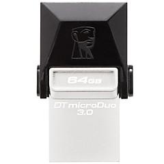 キングストンdtduo3 64ギガバイトusb 3.0フラッシュドライブotgマイクロusbミニ超コンパクト