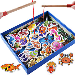 cheap Outdoor Fun & Sports-Building Blocks / Fishing Toy / Educational Toy Fish Magnetic / Classic Boys' Gift