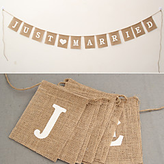 Wedding Engagement Valentine Valentine's Day New Year Wedding Party Eco-friendly Material Jute Wedding Decorations Beach Theme Garden