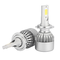 halpa -2pcs H7 Auto Lamput 36W/pcs*2W W COB 3600lm lm LED Ajovalo