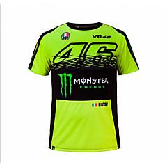 baratos Jaquetas de Motociclismo-motogp t-shirt equitação sapatos motocicleta vr46 knight locy algodão manga curta corrida terno t-shirt