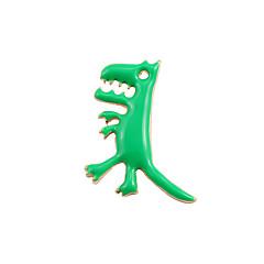 Dame Nåler Dyredesign Mote Bedårende søt stil Emalje Legering Kors Formet Dyreformet Dinosaur Drage Smykker Til Bryllup Fest Spesiell