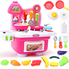 Tue so als ob du spielst Spielzeug-Küchen-Sets Spielzeug Geschirr Tee-Sets Toy Foods Spielzeuge Spielzeuge Jungen Mädchen Stücke