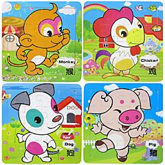 Vzdělávací hračka Puzzle Dřevěné puzzle Hračky Děti Dětské Chlapci 1 Pieces