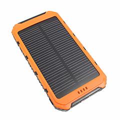 baratos Baterias Externas-10000 mAh Para Bateria externa do banco de potência 5 V Para 3.1 A / # Para Carregador de bateria Prova-de-Água / Output Múltiplo / Recarga com Energia Solar LED