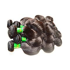 billige Remy fletninger af menneskehår-Menneskehår Remy fletninger af menneskehår Krop Bølge Indisk hår 1000 g 1 år