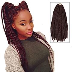 """tanie Przedłużenia włosów-Warkocze Twist Plecenie warkoczy Box Warkocze 24 """" Włosy w 100% z kanekalonu Czarny / Burgundy Pleść warkocze Przedłużanie włosów"""
