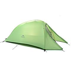 Naturehike 1 Persoons Tent Dubbel Kampeer tent Eèn Kamer Opgevouwen Tent draagbaar Regenbestendig Vouwbaar 4 Seizoen voor Kamperen Voor