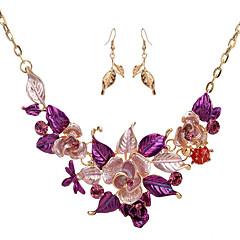 Γυναικεία Vintage Κολιέ Κοσμήματα Λουλούδι Λουλούδια Φλοράλ Flower Shape 1 Κολιέ 1 Ζευγάρι σκουλαρίκια Για Γάμου Πάρτι Ειδική Περίσταση