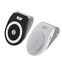 Handsfree Bluetooth Car Kit For iPhone Speakerphone Noise Cancelling Wireless Clip On Sun Visor Portable Car Audio Bluetooth 4.1 Multipoint Speaker
