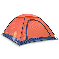 billige Telt og ly-JUNGLEBOA® 2 personer Telt Enkelt camping Tent Ett Rom Brette Telt Fukt-sikker Vanntett Bærbar til Vandring Camping 1000-1500 mm