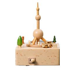 Caixa de música Brinquedos de Corda Brinquedos Quadrada Pato Madeira Peças Unisexo Aniversário Dom