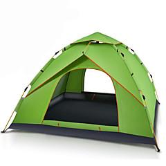 3-4 personer Telt Dobbelt camping Tent Ett Rom Automatisk Telt Vanntett Bærbar Vindtett Ultraviolet Motstandsdyktig Regn-sikker