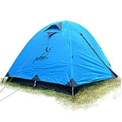 JUNGLEBOA® 2 osobe Šator Strandsátor Dvaput šator za kampiranje Jedna soba Fold šator Vodootporno Prijenosno Otporno na kišu za