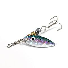 billiga Fiskbeten och flugor-1 pcs st Spinner bete / Fiskbete Spinnfluga Metall Spinnfiske / Jiggfiske / Färskvatten Fiske / Karpfiske / Abborr-fiske / Drag-fiske / Generellt fiske